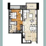 ขายด่วน ดิ เอ็มไพร์ เพลส สาทร 54 sq.m 1 bed The Empire Place Sathorn