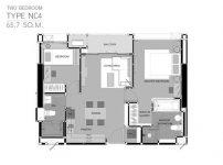 A23 ขายด่วน ริธึ่ม สาทร 21 ชั้น 39 2 bed Rhythm sathorn 39 floor 63 sq.m river view