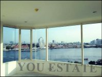 For Sale วอเตอร์มาร์ค เจ้าพระยา ริเวอร์ 242 sq.m at 8 fl tower B 3 bed river view Watermark Chaophraya River