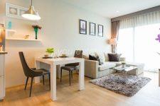 Sale or rent 45000 โนเบิลรีไฟน์ 1 bed height floor โนเบิลรีไฟน์