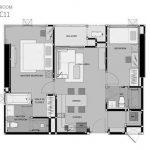 RHYTHM Sukhumvit 50 ชั้น 19 ห้องมุม ขนาด 65.46 ตรม.